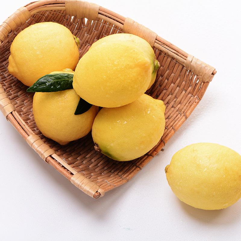 汇达柠檬 精品黄柠檬中果3斤